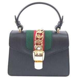Top Handle Sylvie Straps Mini Leather Shoulder Bag